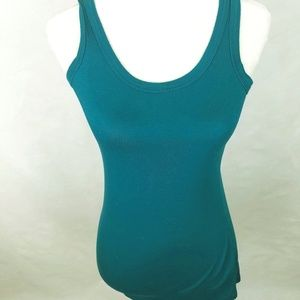 Soprano Blue/Green Tank Top Size Large